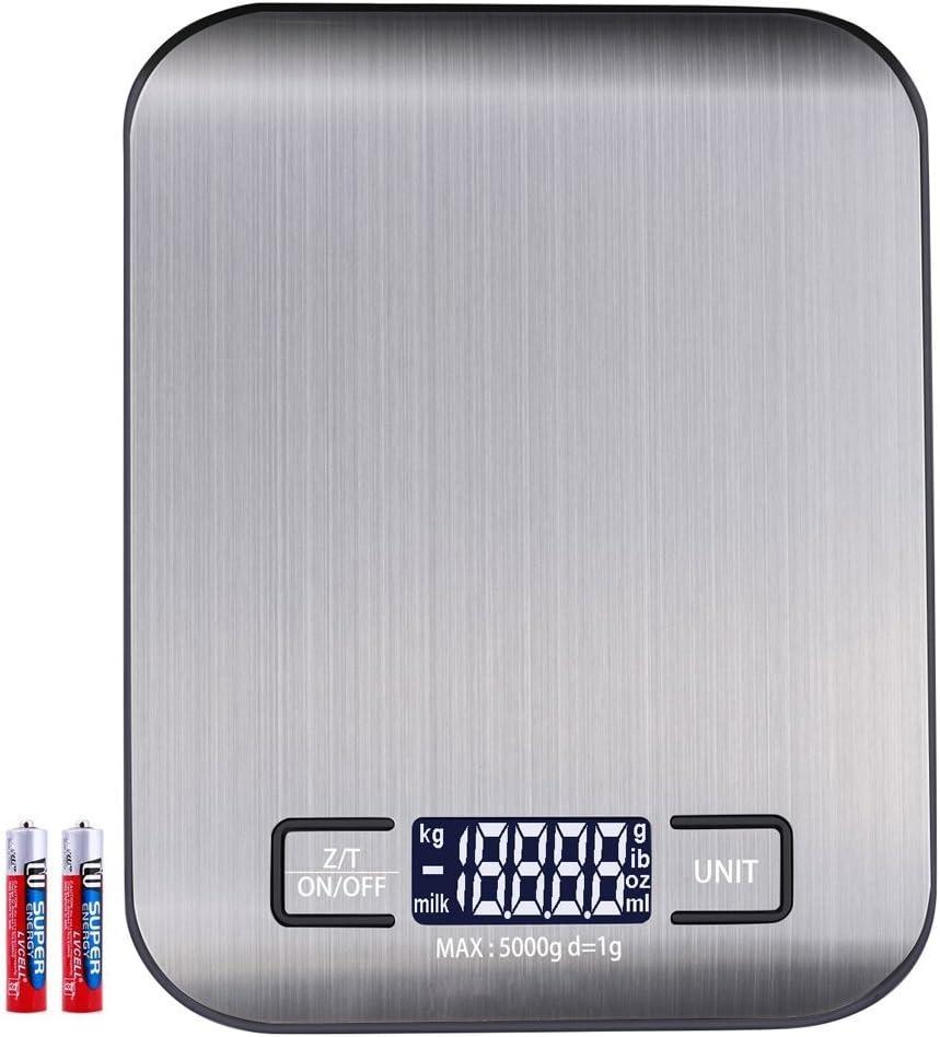 Anbero Küchenwaage Briefwaage Feinwaage Digitalwaage Elektronische Digitale  Waage Küche, 188kg Maximalgewicht(Hohe Präzision auf bis zu 18g),