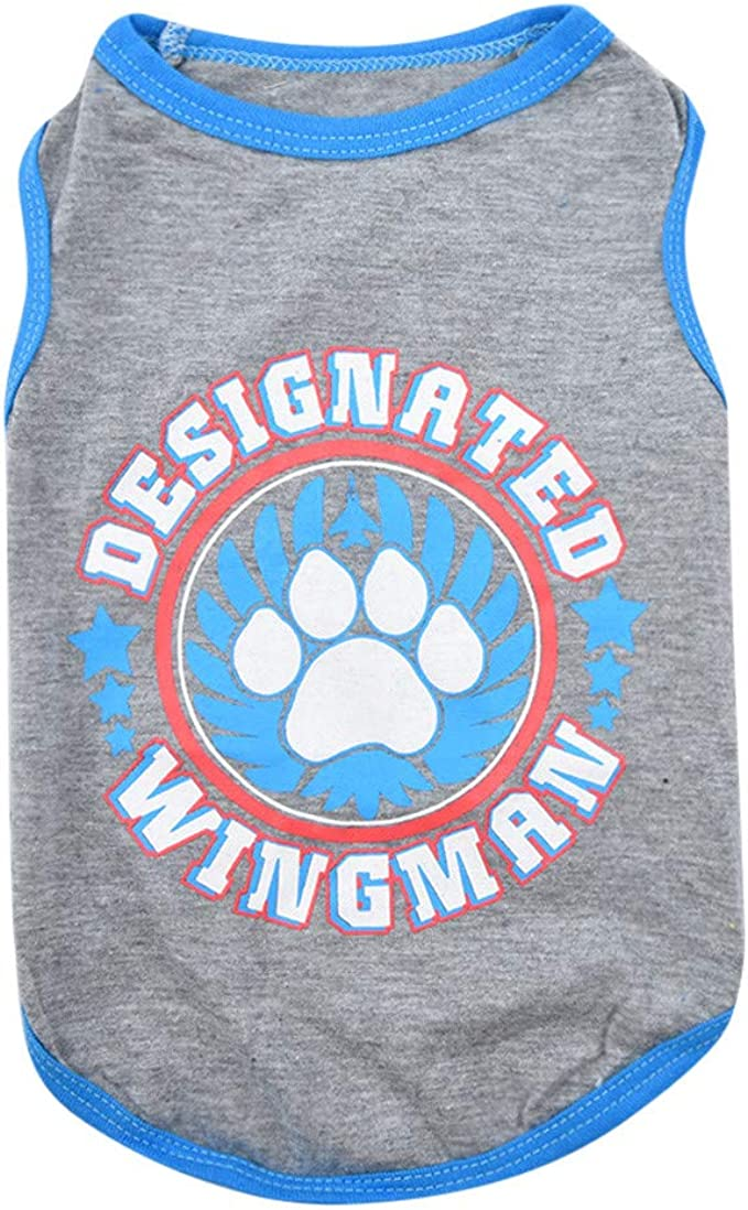 Pet Schnauzer Female Male Clothing Puppy Cat Shirt for Baby Love Vest Tank Tops Wakeu Dog Clothes for Small Dogs Boy Yorkies Girl Chihuahua Summer Fall