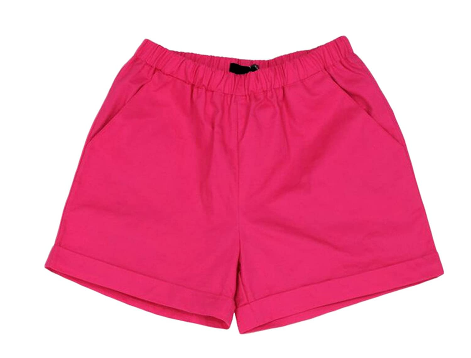Wholesale Fulok Womens Elastic Wasit Baggy Fit Pull on Comfy Hot Short With Pockets for sale