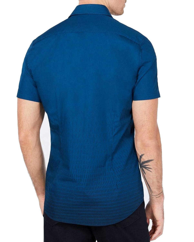 Ryan Seacrest Mens Dash Print Button Down Shirt