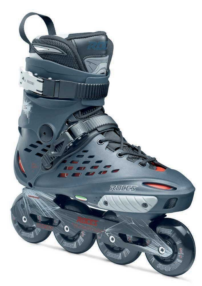 Roces 400797 Men's Model X35 Inline Skate, US 9, Charcoal/Red