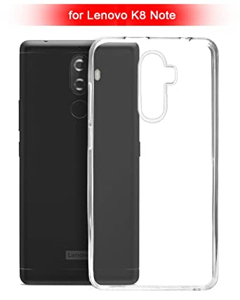 ECellStreet ECS Transparent Soft Back Case Cover For Lenovo K8 Note