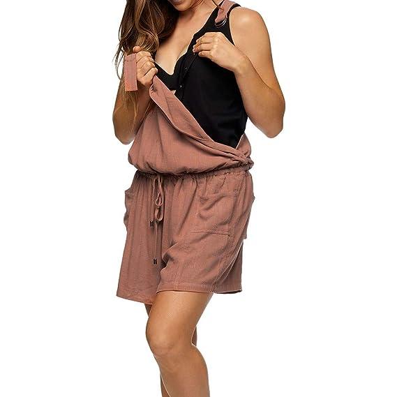 49c143d217fd GUCIStyle Premamá de Mujer, Mono Cortos Pantalones Embarazada Ropa ...