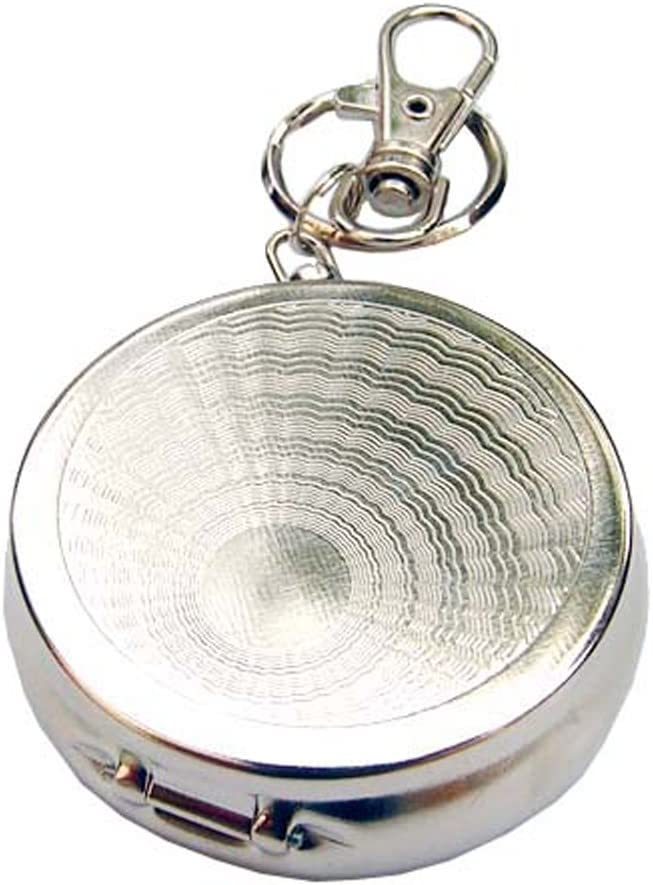 tragbar Sendgo Warmer Taschenbecher aus Edelstahl rund mit Schl/üsselanh/änger