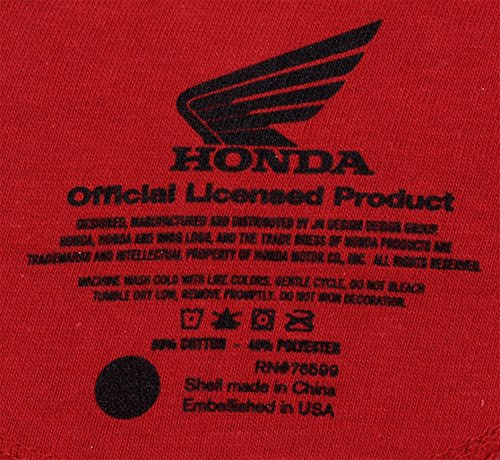eeaa8d3ccef JH DESIGN GROUP Mens Honda Wing Logo Hoodie with Exclusive American Flag  Sticker (2X