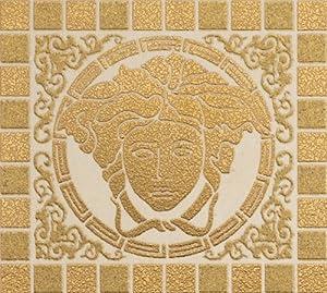 Versace vanitas floor wall firma medusa tiles square in for Carrelage versace