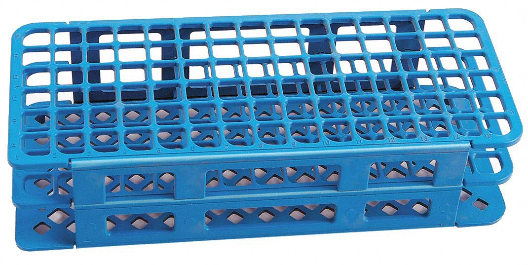 Test Tube Rack, 6x12 Format, Blue, 2-5/8''H