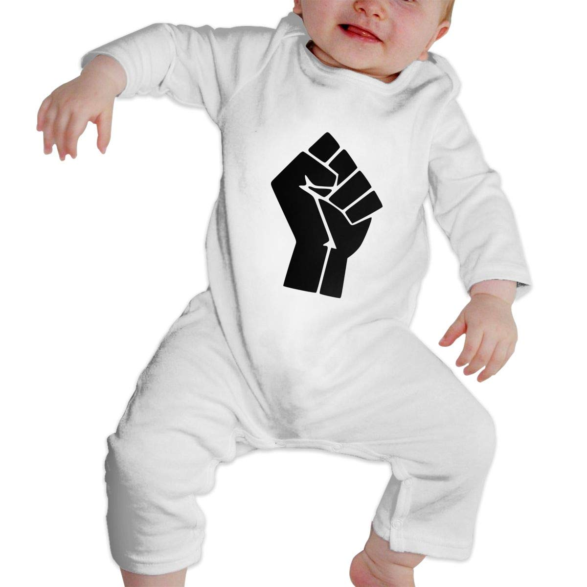 KAYERDELLE Fist Black Lives Matter Long-Sleeve Unisex Baby Romper for 6-24 Months Infant