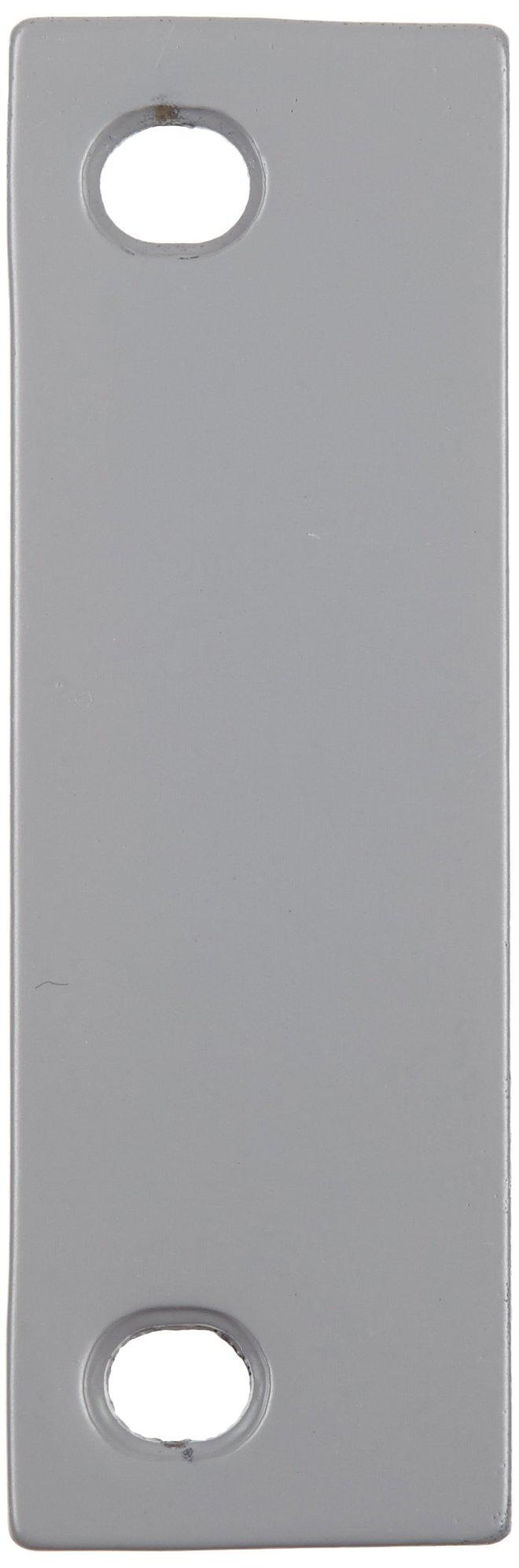 Rockwood DHF4B Steel Beveled Door Hinge Filler Plate, 1-1/2'' Width x 4-1/2'' Height, Prime Coat Finish (Pack of 25)