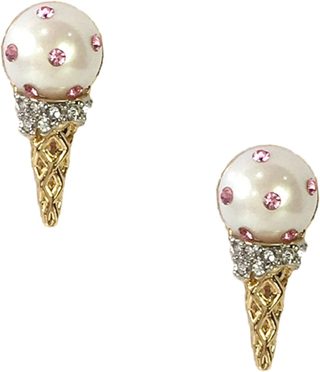 Kate Spade Carnival Nights Ice Cream Cone Studs Earrings, Cream Multi