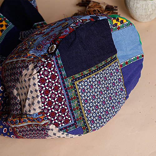 Ethnic Style Bag Lady's Everyday Crossbody Shoulder Bags Women Tourist Cotton Fabric Bag by miaomiaojia (Image #9)