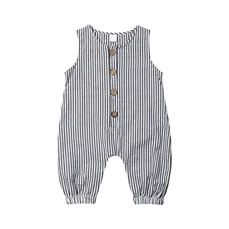 US Fashion Newborn Kids Baby Girl Stripe Summer Romper Jumpsuit Playsuit Clothes