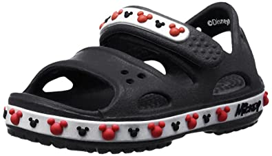 d035b3bd260100 crocs Crocband II Mickey Girls Sandal in Black  Buy Online at Low Prices in  India - Amazon.in