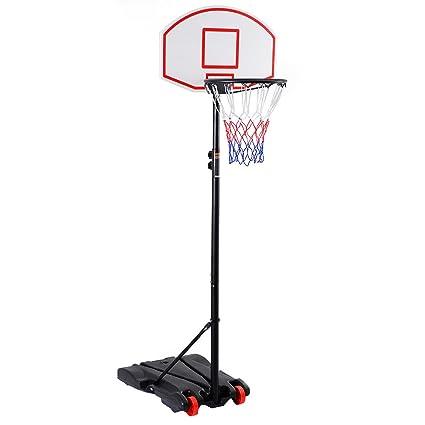 5821cebf4f46f1 Amazon.com   Wheels Portable Adjustable Height Basketball Hoop Stand ...