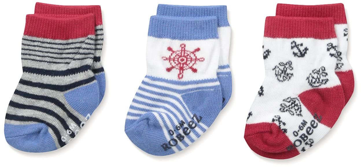 Robeez Baby Boys at The Helm Socks-3 Pack