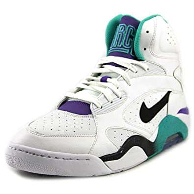 e8f2b71921 Amazon.com | NIKE New Air Force 180 MID Mens Basketball Shoes 537330-102  White Atomic Teal-Hyper Grape-Black 13 M US | Basketball