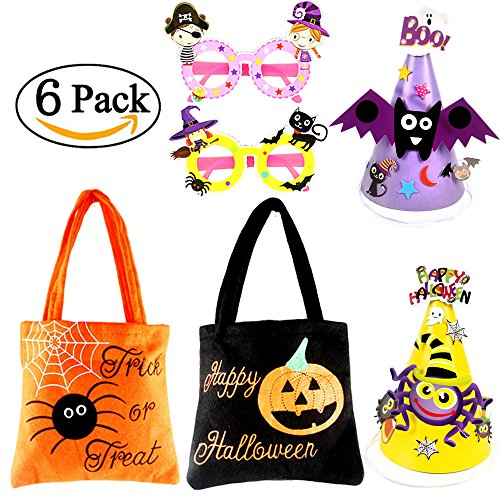 [Halloween Costume Accssories Sets for Boys and Girls | Trick or Treat Candy bags] (Funny Diy Kids Halloween Costumes)