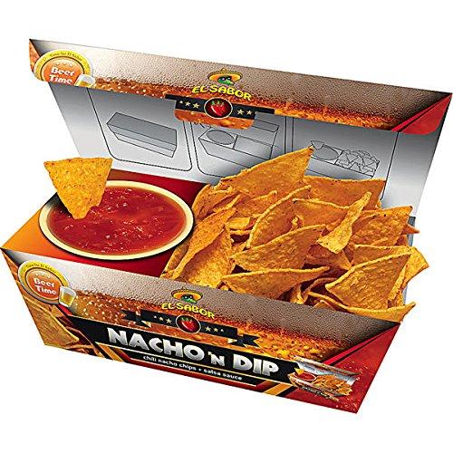 24 Boxen Nacho n Dip Salsa Chili Nachos mit Salsa Dip a 175g