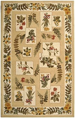 Safavieh Chelsea Collection HK07A Hand-Hooked Ivory Premium Wool Area Rug 6' x 9'