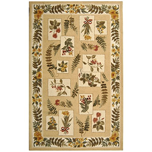 Safavieh Chelsea Collection HK07A Hand-Hooked Ivory Premium Wool Area Rug 6 x 9