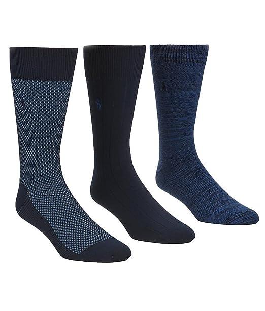 Ralph Lauren - Paquete de 3 calcetines Birdseye - Talla única (39 ...