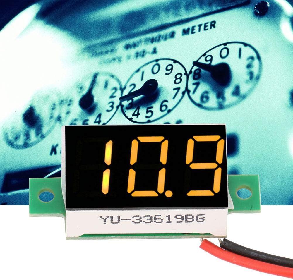 LED Voltm/ètre /à Tube Num/érique Voltm/ètre Testeur de Testeur de Tension /à Deux Fils Voltm/ètre DC DC 2.4V-30V 0.36 pouces 5pcs Mini Voltm/ètre