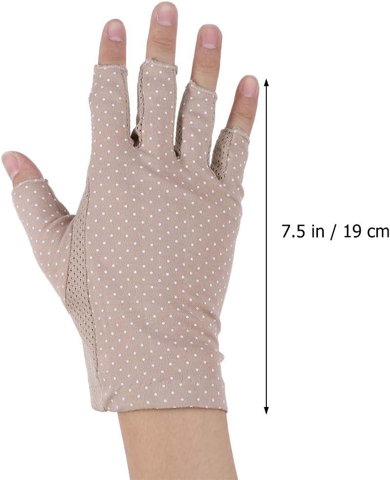 Artibetter 1 par de guantes de medio dedo guantes de protección UV de entrenamiento para ciclismo escalada a caballo