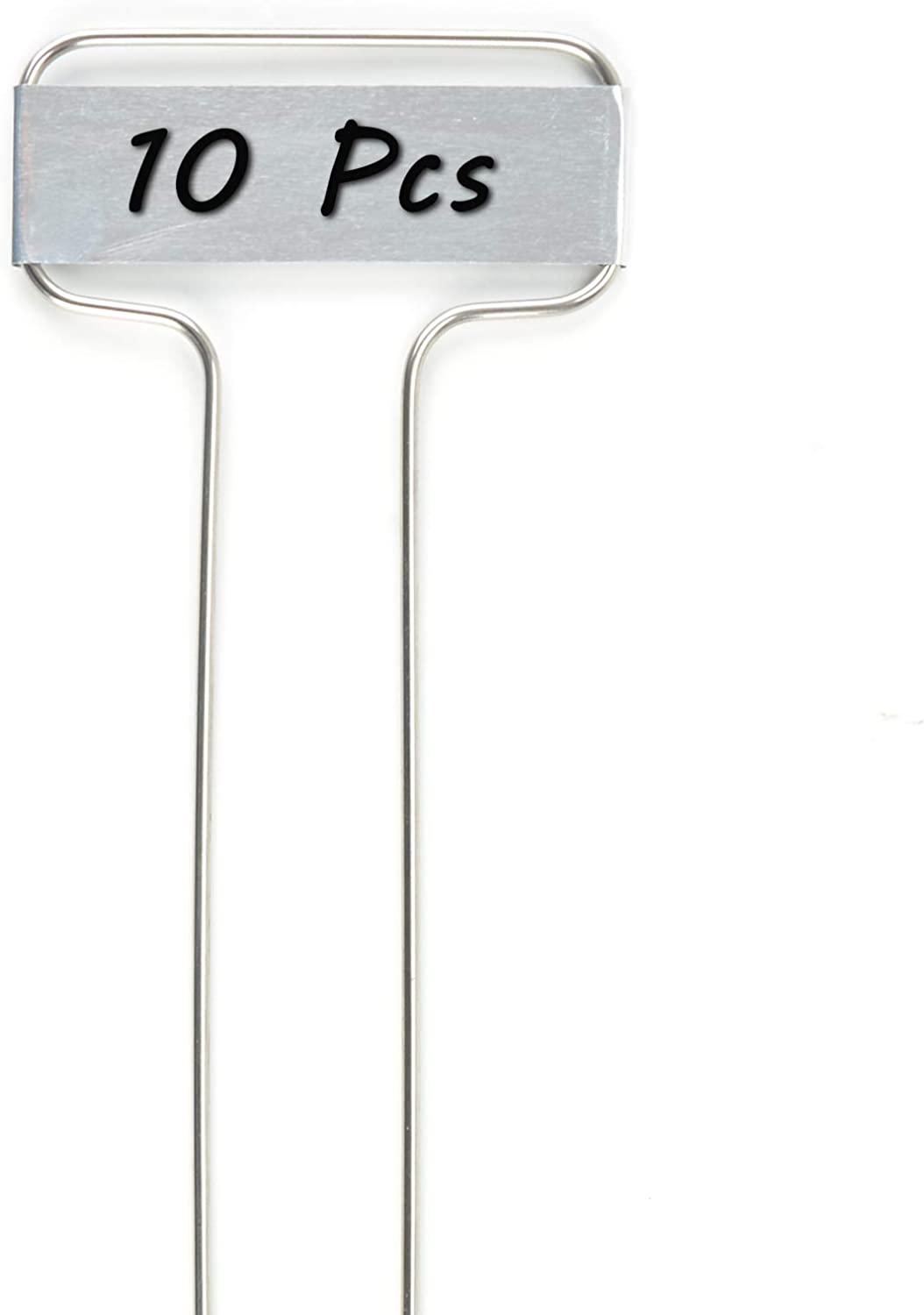 "Metal Plant Labels - 10 Pcs Small-Faced Aluminum Plant Markers Waterproof Reusable Garden Stake Tags,Height 10"",Label Area 2.5'' x 7/8''"