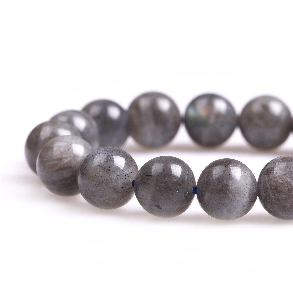 Sweet /& Happy Girls Store pierres rondes Labradorite perles Strang 15/Fabrication de Bijoux Perles 10mm Labradorit Perlen
