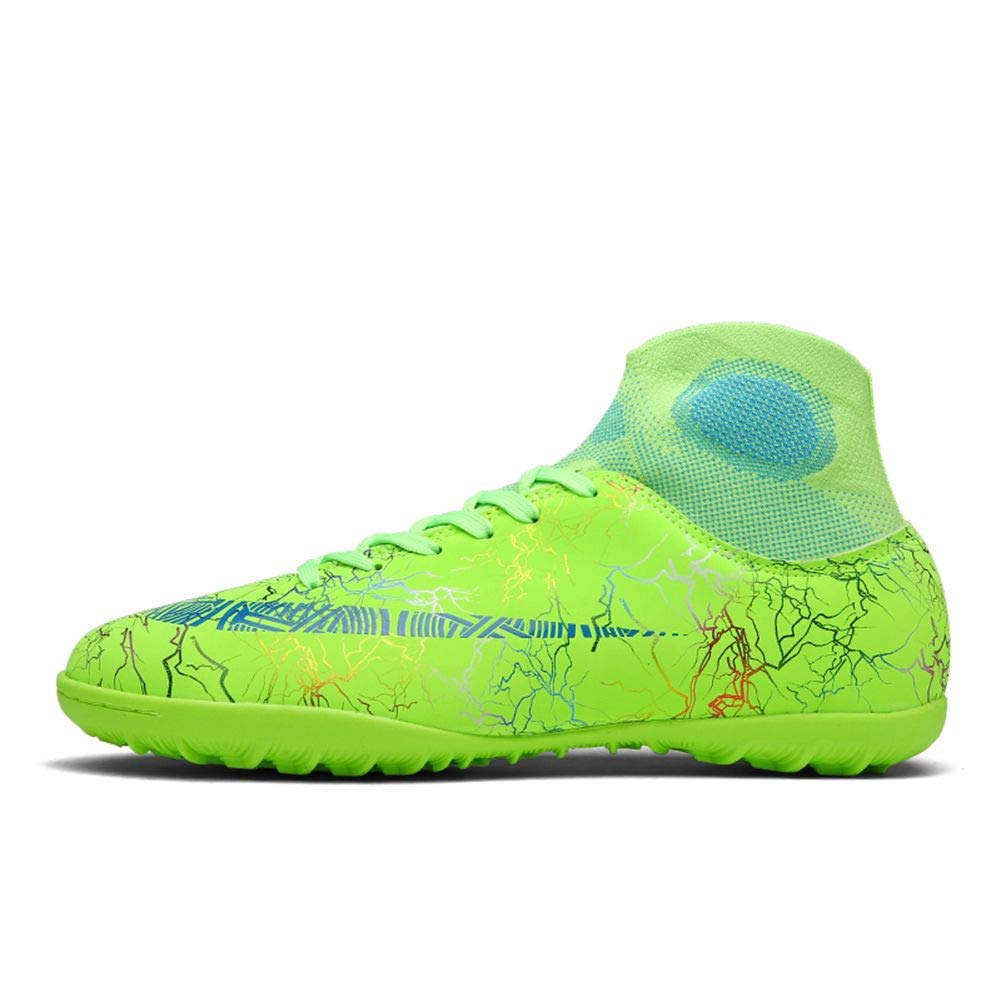 No.66 TOWN Unisex Cleats AG Bright Colorful Short Studs Non-Slip Training Athletic Soccer Shoes for Youth Green 12 Women/10.5 Men US by No.66 TOWN