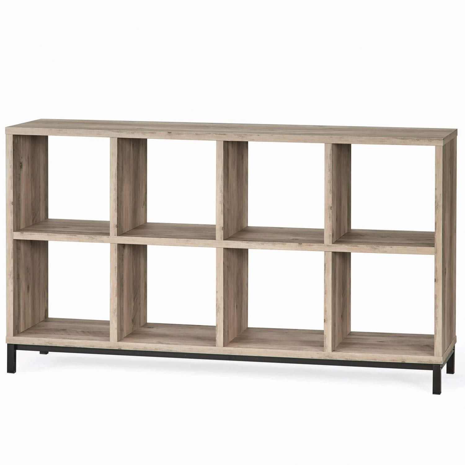 Better Homes and Gardens.. Cube Organizer with Metal Base (8 Cube, Rustic Gray)
