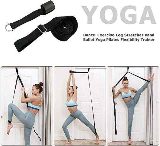 Flexibility Stretching Leg Stretcher Strap with Loops Split Training Waist Rope!