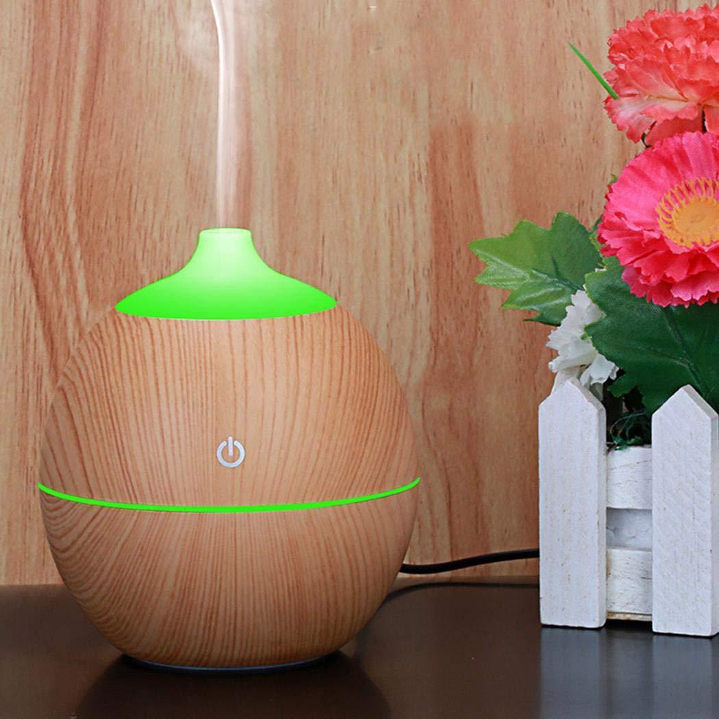 LIOPIO Diffusore di Olio Essenziale per Muto da Ufficio Mini USB Desktop Office Humidifier in Legno Umidificatori