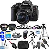 Canon EOS Rebel T6i DSLR Camera with EF-S 18-55mm f/3.5-5.6 IS STM Lens [International Version] (Mega Bundle, 18-55mm Lens)