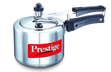 Prestige Nakshatra Plus Induction Base Aluminium Pressure Cooker, 2 Litres,Silver