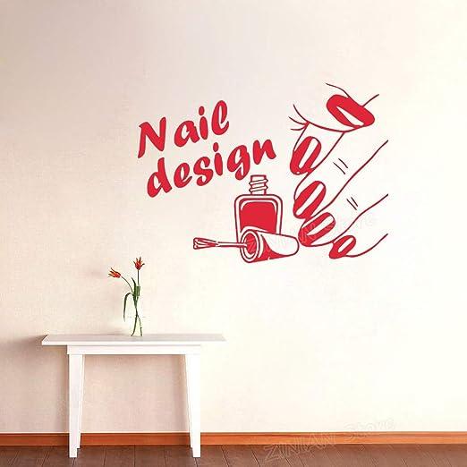 Nail Art Design Poster Tatuajes de Pared Esmalte de uñas con Dedo ...