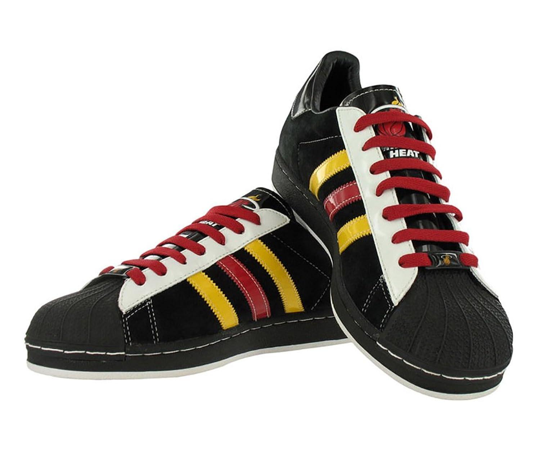 Amazon.com | Adidas Men's Superstar Heat Casual Shoe Black/Red/Yellow (13)  | Basketball