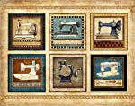 "Sewing Quilting Signed Art Print by Dan Morris 11""x14"" titled Vintage Sewing Machines"