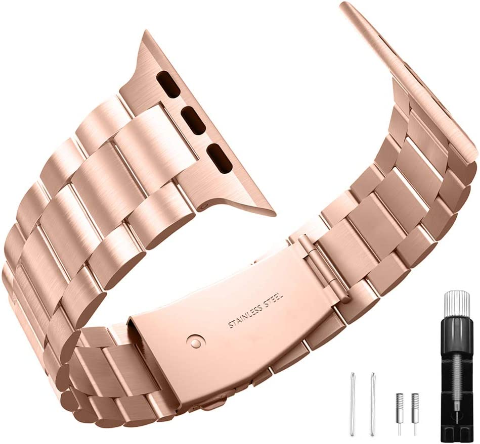 Stainless steel band compatible with apple watch band 38mm 40mm suitable for iwatch 6 / 5/4/3/2/1 bands replacement bracelet men and women