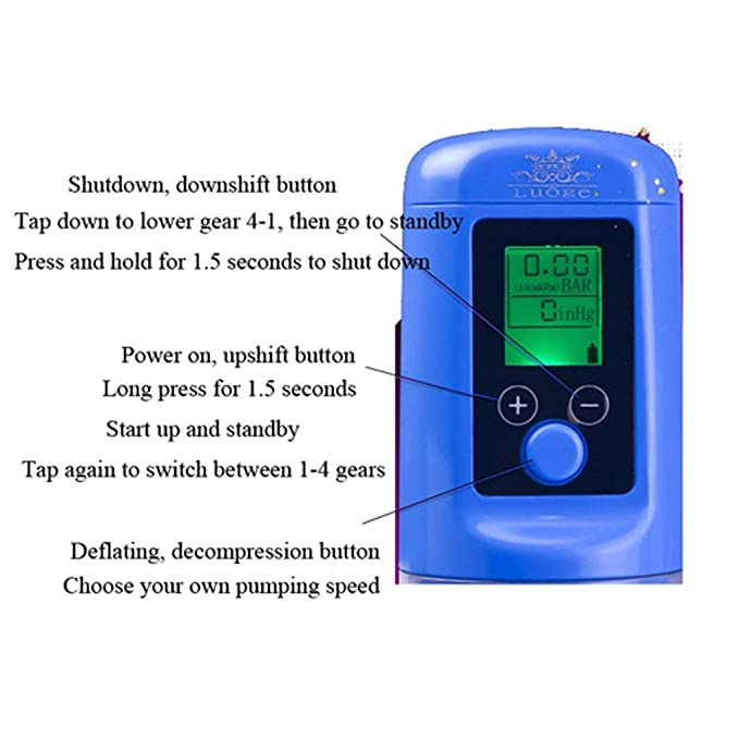 Penísgrowth Pump Penísextender Dispositivo de longitud eficaz para alargar la bomba de vacío para hombres: Amazon.es: Bebé