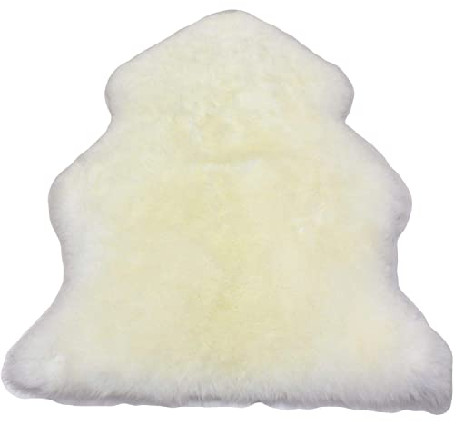 Furfurmouton New Zealand Sheepskin Rug Single One Pelt 2.3 ft. x 3.5 ft. RLS95N Ivory