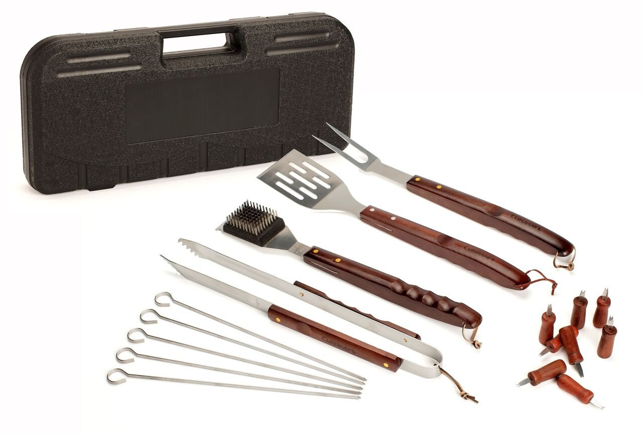 Cuisinart CGS-W18 18 Piece Wooden Handle Grill Set by Cuisinart