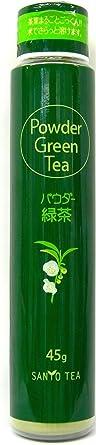 山陽商事 ボトルに入ったパウダー緑茶 45g