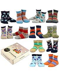 TeeHee (Naartjie) Kids Boys Cotton Fun Crew Socks 12 Pair Pack