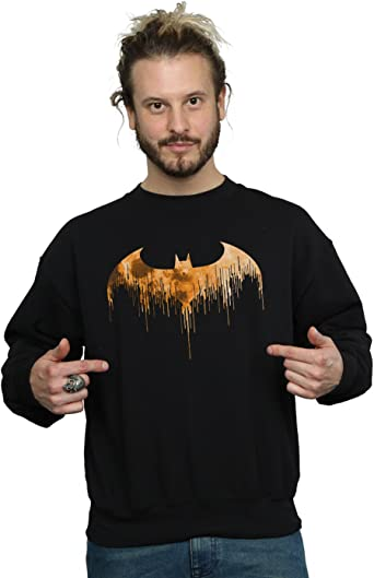 DC Comics Hombre Batman Arkham Knight Halloween Moon Logo Fill Camisa De Entrenamiento: Amazon.es: Ropa y accesorios