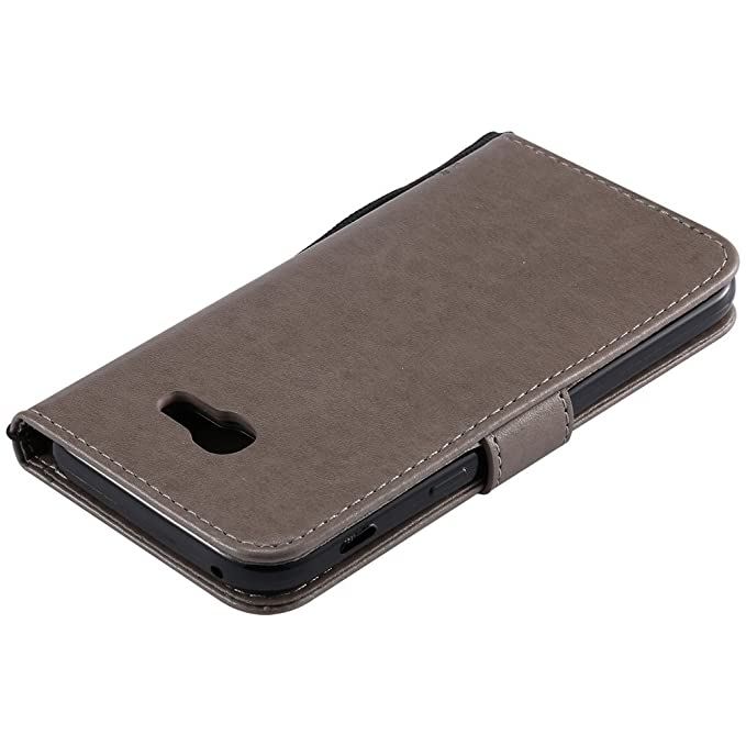 Samsung Galaxy A5 2017 Cover Case EMAXELER Stylish Diamond Embossed Kickstand Credit Cards Slot Cash Pockets PU Leather Flip Wallet Case For Samsung ...