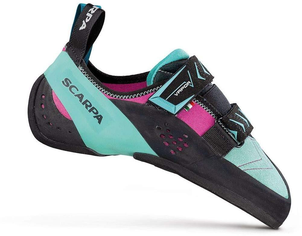 SCARPA Vapor V Climbing Shoe - Women's Dahlia/Aqua 41.5 by SCARPA