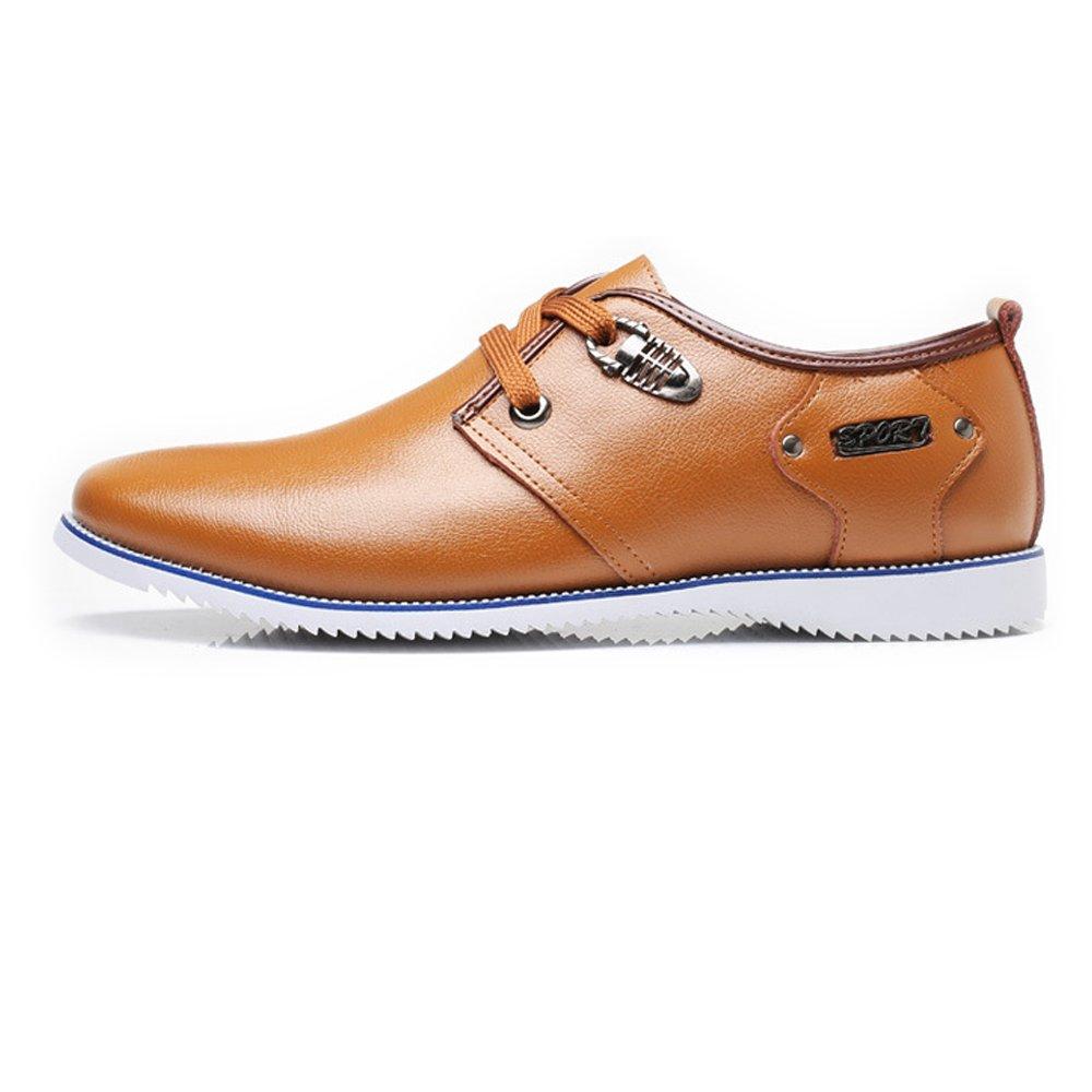 SCSY-Oxford-Schuhe Formale Geschäfts-Schuhe der einfachen Männer mattiert echtes echtes echtes Leder-Oberleder Oben Breathable gefütterte Oxfords  6a7610