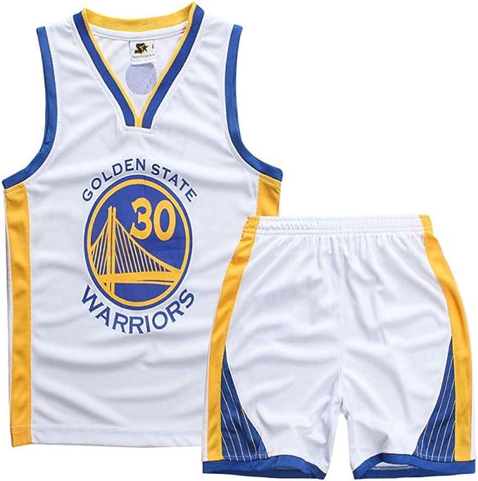 Set di Maglie per Bambini Set di Camicie in Jersey Set da Basket Swinger Jersey-Stephen Curry # 30 Camicia da Basket per Bambini Canotta Shorts Golden State Warriors Jersey