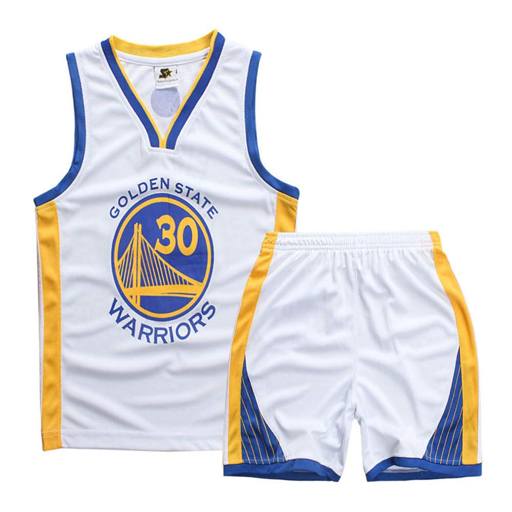 Camisetas de Baloncesto para niño y niña, Stephen Curry #30 Camiseta de Baloncesto para niño Chaleco Pantalones Cortos de Verano Camiseta NBA Golden ...